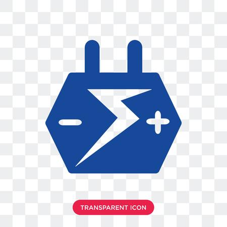Icono de vector de batería de coche grande aislado sobre fondo transparente, concepto de logo de batería de coche grande