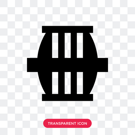 Barrel vector icon isolated on transparent background, Barrel logo concept