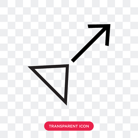 Drag vector icon isolated on transparent background, Drag logo concept