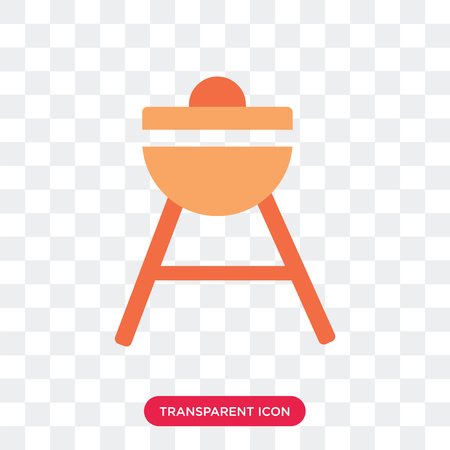 Bbq vector icon isolated on transparent background, Bbq logo concept Illustration