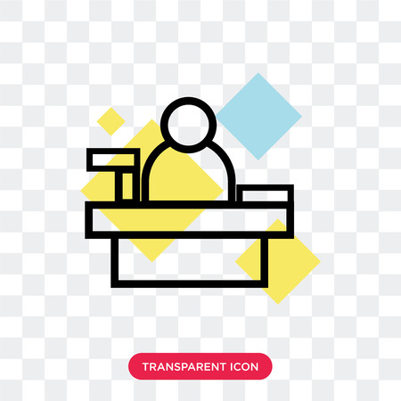 Cashier vector icon isolated on transparent background, Cashier logo concept