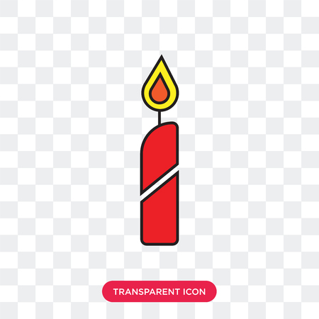 Candelabra vector icon isolated on transparent background, Candelabra logo concept Ilustrace