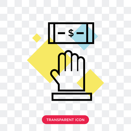 Dollar vector icon isolated on transparent background, Dollar logo concept