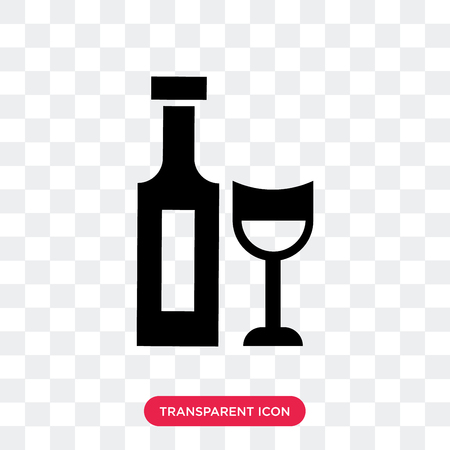 Rum vector icon isolated on transparent background, Rum logo concept Illustration