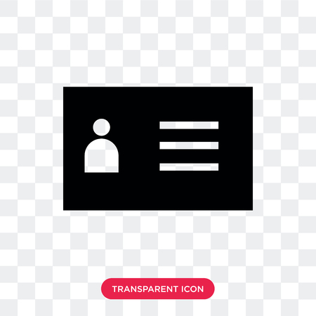 Id card vector icon isolated on transparent background, Id card logo concept