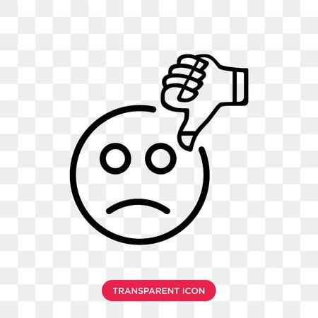 Icono de vector de mala revisión aislado sobre fondo transparente, concepto de logo de mala revisión