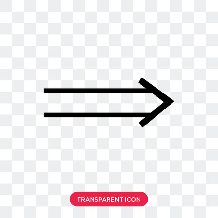 Icono de vector derecho delgado aislado sobre fondo transparente, concepto de logo derecho delgado