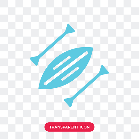 Kayak vector icon isolated on transparent background, Kayak logo concept
