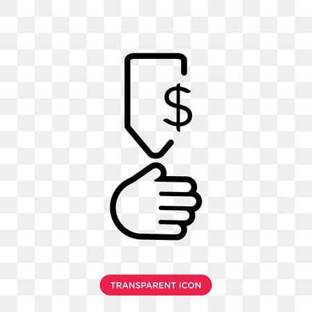 Profit vector icon isolated on transparent background, Profit logo concept