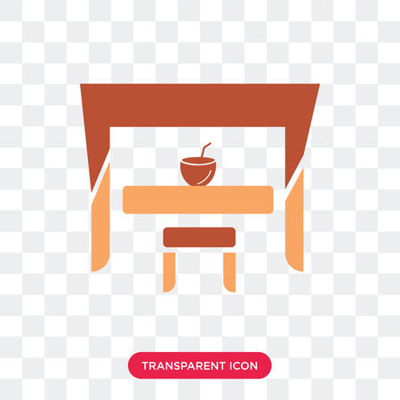 Bar vector icon isolated on transparent background, Bar logo concept