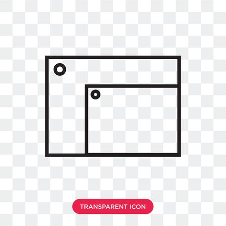 resize window vector icon isolated on transparent background, resize window logo concept