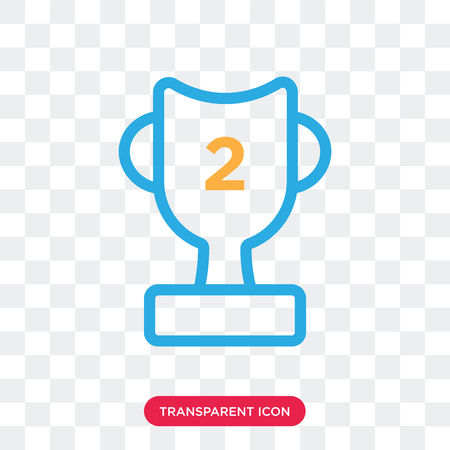 Trophy vector icon isolated on transparent background, Trophy logo concept