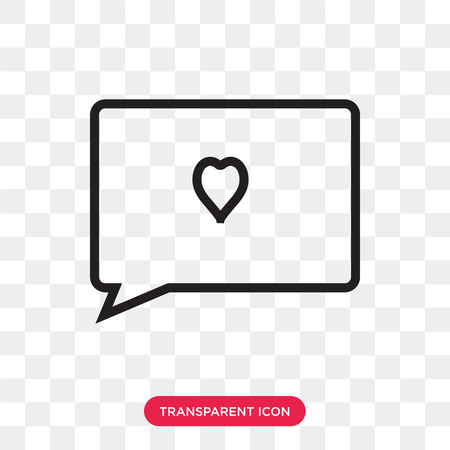love comment vector icon isolated on transparent background, love comment logo concept