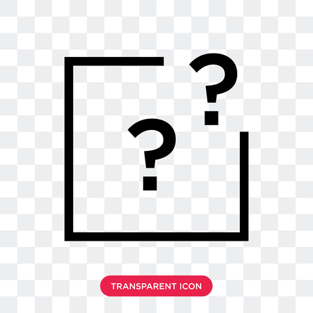 question mark vector icon isolated on transparent background, question mark logo concept