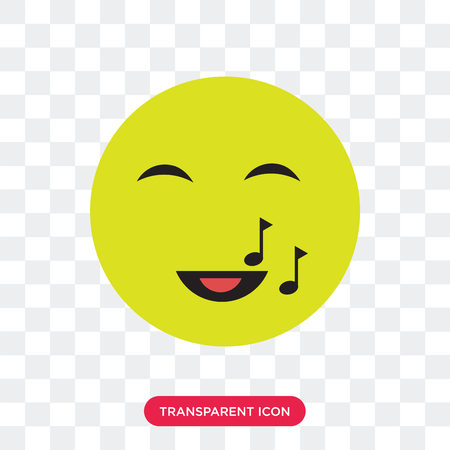 Singing vector icon isolated on transparent background, Singing logo concept