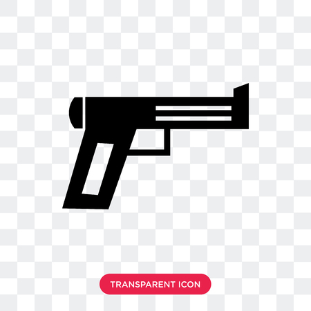 Musket vector icon isolated on transparent background, Musket logo concept Vectores