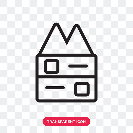 Bunker vector icon isolated on transparent background, Bunker logo concept