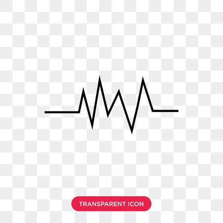 Icona di vettore di impulso isolato su sfondo trasparente, concetto di marchio di impulso Vettoriali