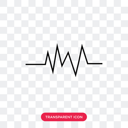 pulse vector icon isolated on transparent background, pulse logo concept
