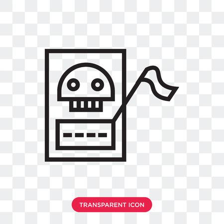 Tarot vector icon isolated on transparent background, Tarot logo concept