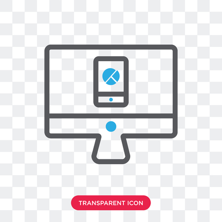Analytics vector icon isolated on transparent background, Analytics logo concept