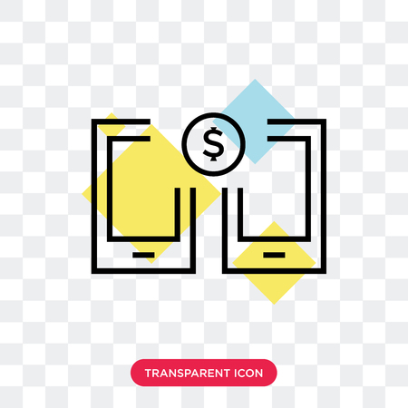 Money transfer vector icon isolated on transparent background, Money transfer logo concept