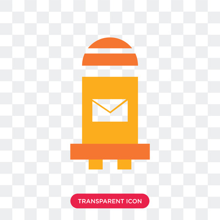 Mailbox vector icon isolated on transparent background, Mailbox logo concept