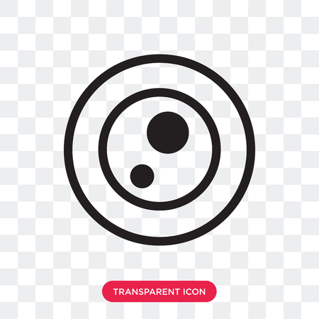 Petri dish vector icon isolated on transparent background, Petri dish logo concept