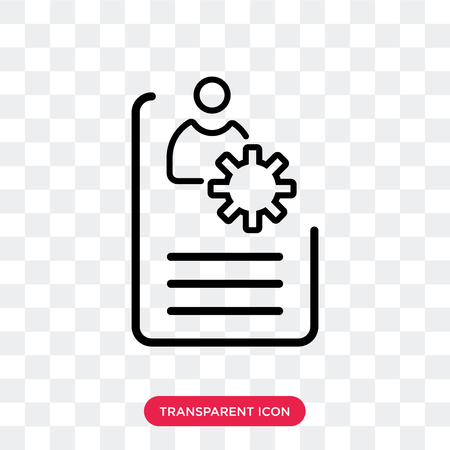 Resume vector icon isolated on transparent background, Resume logo concept Illustration