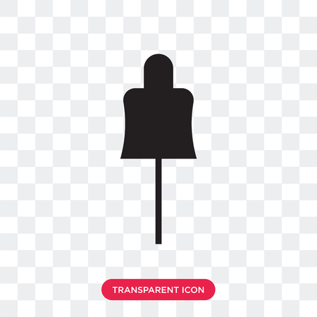 Mannequin with stand vector icon isolated on transparent background, Mannequin with stand logo concept