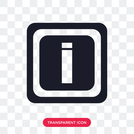 Information vector icon isolated on transparent background, Information logo concept  イラスト・ベクター素材