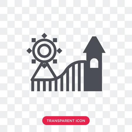 Amusement park vector icon isolated on transparent background, Amusement park logo concept Illustration