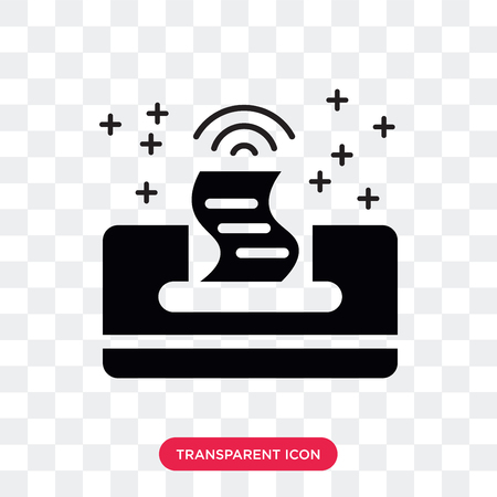 Printer vector icon isolated on transparent background, Printer logo concept