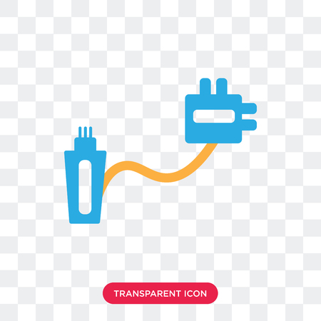 Cable vector icon isolated on transparent background, Cable logo concept 矢量图像