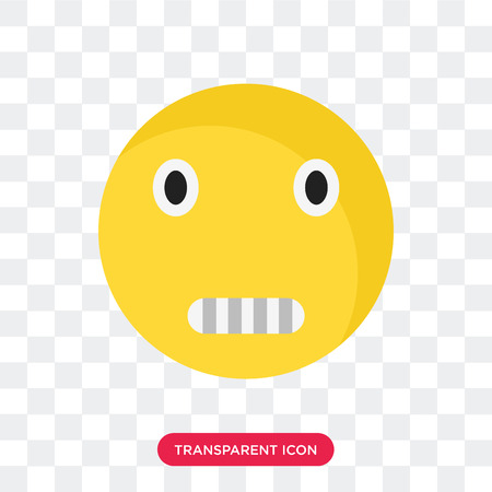Creepy smile vector icon isolated on transparent background, Creepy smile logo concept