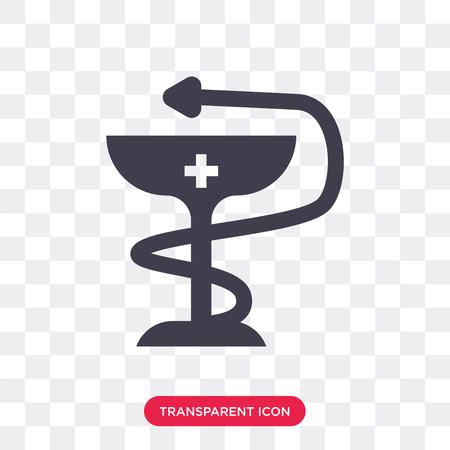 Medicine vector icon isolated on transparent background, Medicine logo concept Illustration