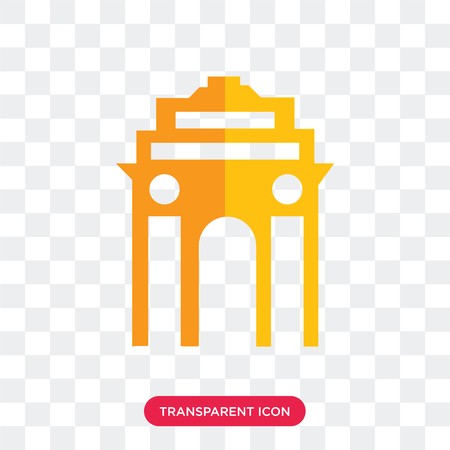 Gate vector icon isolated on transparent background, Gate logo concept