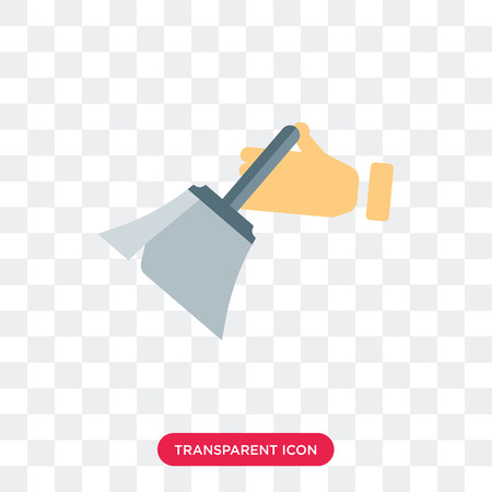 Dusting vector icon isolated on transparent background, Dusting logo concept Vettoriali