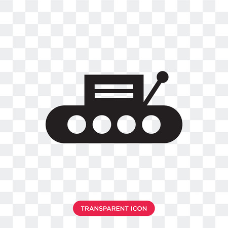 Conveyor vector icon isolated on transparent background, Conveyor logo concept