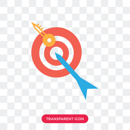 Target vector icon isolated on transparent background, Target logo concept Çizim