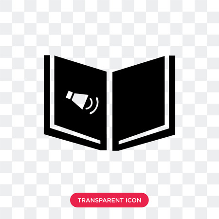Audiobook vector icon isolated on transparent background, Audiobook logo concept