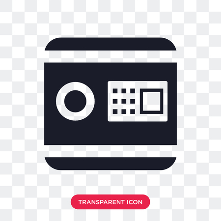 Safebox vector icon isolated on transparent background, Safebox logo concept