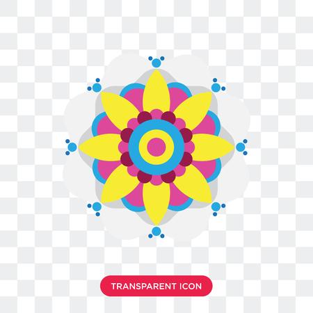 Rangoli vector icon isolated on transparent background, Rangoli logo concept