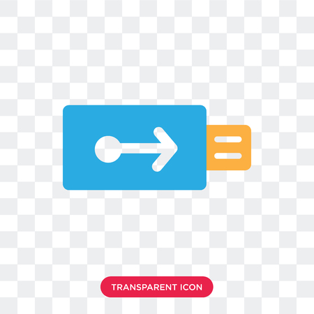 Usb vector icon isolated on transparent background, Usb logo concept