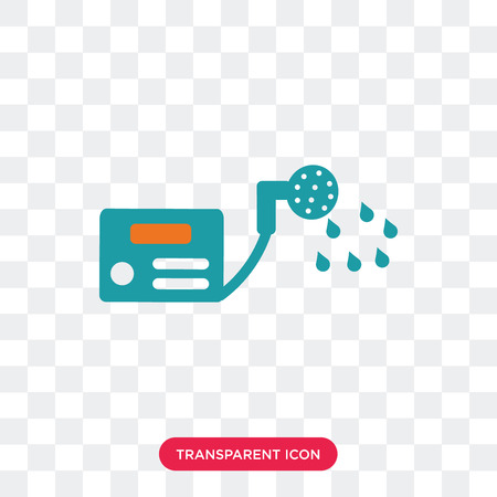 Water heater vector icon isolated on transparent background, Water heater logo concept
