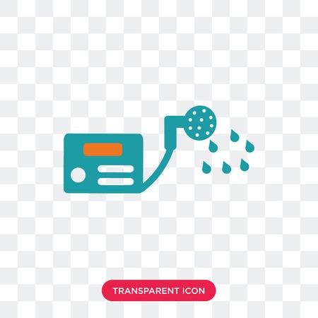 Water heater vector pictogram geïsoleerd op transparante achtergrond, Water heater logo concept Logo
