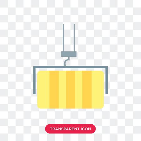 Crane vector icon isolated on transparent background, Crane logo concept
