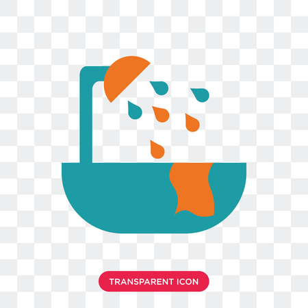 Bathroom vector icon isolated on transparent background, Bathroom logo concept