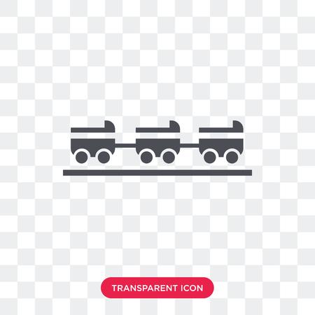 Icône de vecteur de tour isolé sur fond transparent, concept logo ride Logo