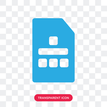 Sim card vector icon isolated on transparent background, Sim card logo concept